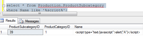 Javascript has been inserted into our database via a SQL injection attack.