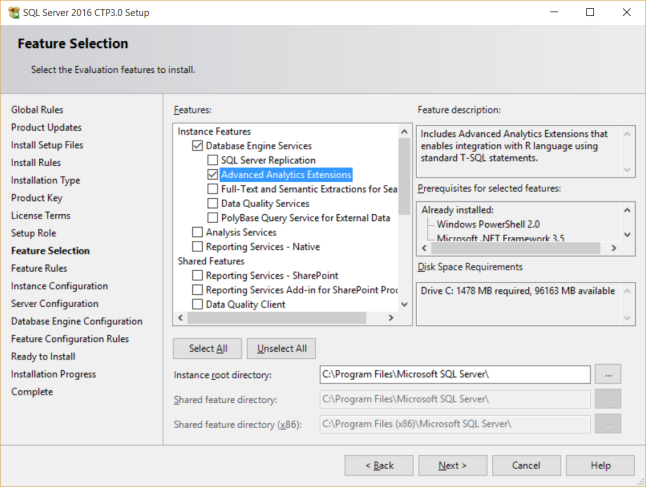 SQL Server Advanced Analytics Extensions